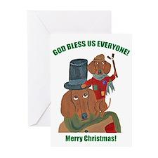 Dachshund Tiny Tim Greeting Cards (Pk Of 20)