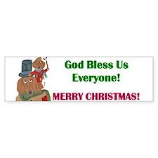 Dachshund Tiny Tim Sticker (Bumper 10 Pk)