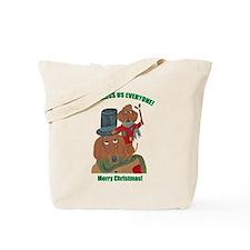 Dachshund Tiny Tim Tote Bag