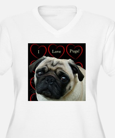 Cute I Love Pugs T-Shirt