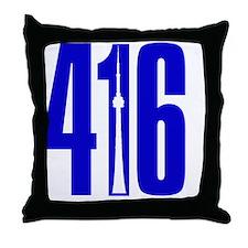 416 CN TOWER Blue Throw Pillow