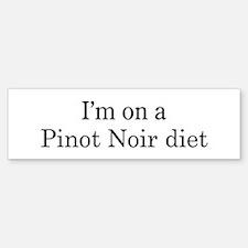 Pinot Noir diet Bumper Bumper Bumper Sticker