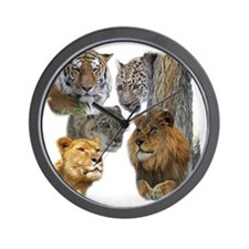The Big Cats Wall Clock