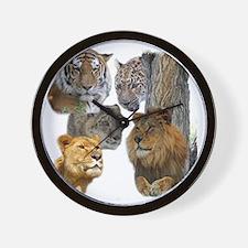 The Big Cats Wall Clock