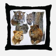 The Big Cats Throw Pillow