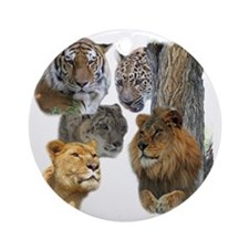 The Big Cats Round Ornament