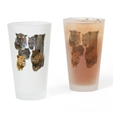 The Big Cats Drinking Glass
