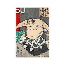 Vintage 1978 Japan Sumo Wrestler  Rectangle Magnet