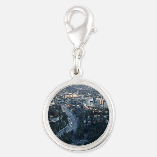 Los Angeles Silver Round Charm