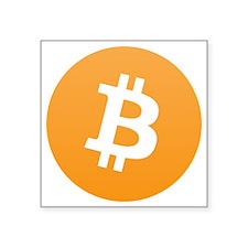 """bitcoinLogo10000 Square Sticker 3"""" x 3"""""""