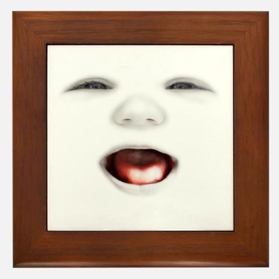 babyface3-laugh-DKT Framed Tile