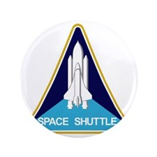 """Space Shuttle Patch 3.5"""" Button"""