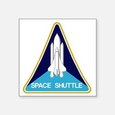 """Space Shuttle Patch Square Sticker 3"""" x 3"""""""