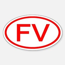 FV Oval (Red) Oval Decal