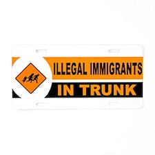 DEPORT ALIENS Aluminum License Plate