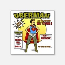 "Uberman Square Sticker 3"" x 3"""