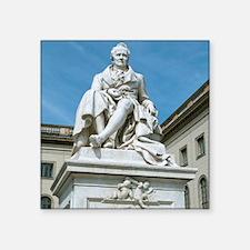 """Statue of Alexander von Hum Square Sticker 3"""" x 3"""""""