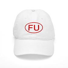 FU Oval (Red) Baseball Cap