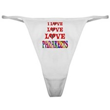 Love Love Parakeets Classic Thong