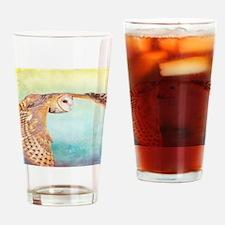 Barn Owl Drinking Glass