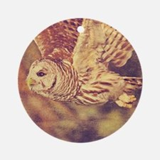 Barred Owl Round Ornament