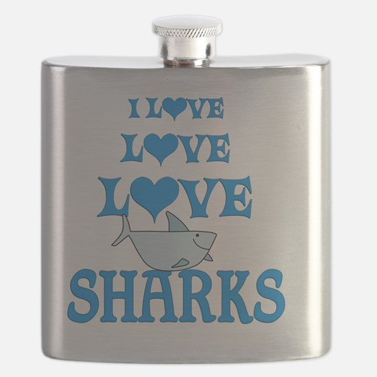 Love Love Sharks Flask