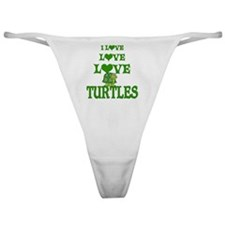 Love Love Turtles Classic Thong