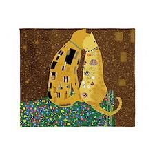 Klimts Kats 12 x 12 Throw Blanket