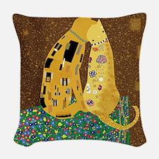 Klimts Kats 12 x 12 Woven Throw Pillow