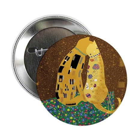 "Klimts Kats 12 x 12 2.25"" Button"