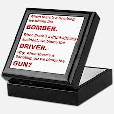 WHY DO WE BLAME THE GUN Keepsake Box