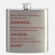 WHY DO WE BLAME THE GUN Flask