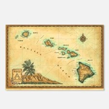 Hawaii map Postcards (Package of 8)