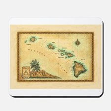 Hawaii map Mousepad