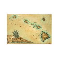 Hawaii map Rectangle Magnet