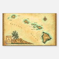 Hawaii map Bumper Stickers