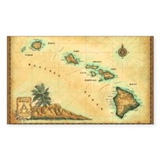 Hawaii map Stickers