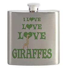 Love Love Giraffes Flask