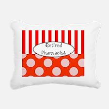 Retired Pharmacst Apron  Rectangular Canvas Pillow