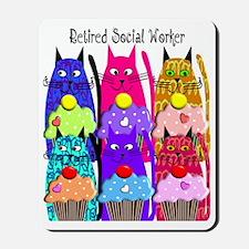 retired social worker 1 Mousepad