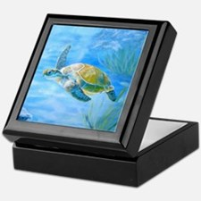 Underwater turtle Keepsake Box