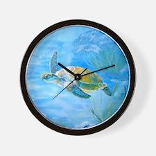 Underwater turtle Wall Clock