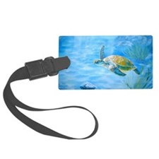Underwater turtle Luggage Tag
