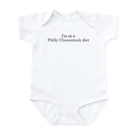 Philly Cheesesteak diet Infant Bodysuit