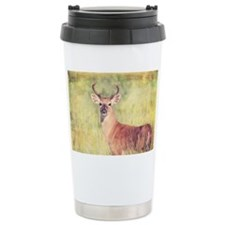 White Tailed Buck Travel Coffee Mug
