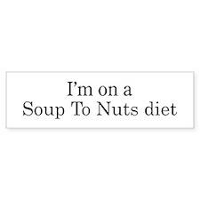 Soup To Nuts diet Bumper Bumper Sticker