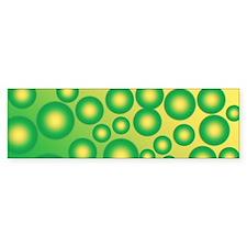 Fresh tropical bubbles Bumper Sticker