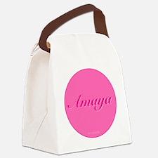 Amaya Button Canvas Lunch Bag