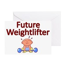 Future Weightlifter Greeting Card