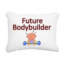 Future Bodybuilder Rectangular Canvas Pillow